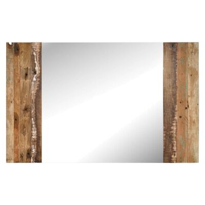 Wrap Reclaimed Timber Wall Mirror, 143cm