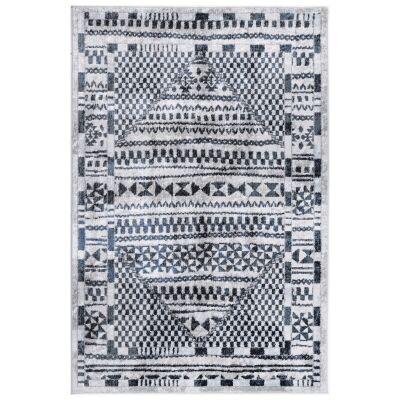 Kimberley Aztec Modern Rug, 230x160cm, Navy
