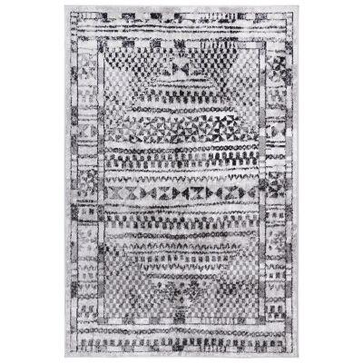 Kimberley Aztec Modern Rug, 150x80cm, Charcoal