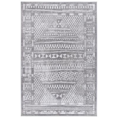 Kimberley Aztec Modern Rug, 150x80cm, Grey