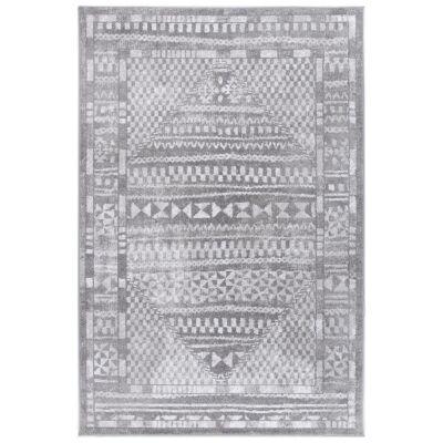 Kimberley Aztec Modern Rug, 330x240cm, Grey