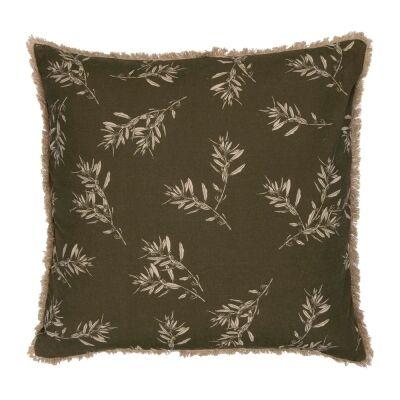 Olive Grove & Cotswold Fabric Euro Cushion, Olive