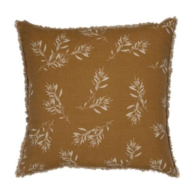 Olive Grove & Cotswold Fabric Euro Cushion, Mustard