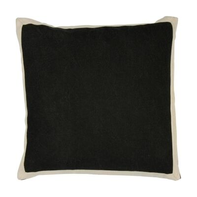 Block Fabric Scatter Cushion, Raven