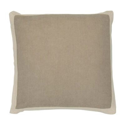 Block Fabric Scatter Cushion, Taupe