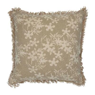 Myrtle Fabric Scatter Cushion, Beige