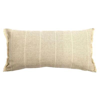 Scott Cotton Lumbar Cushion, Stone