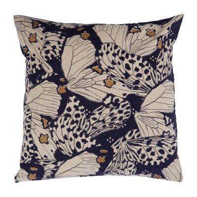 Flutterby Fabric Scatter Cushion, Denim