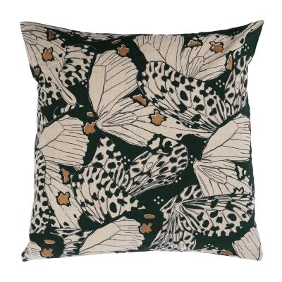 Flutterby Fabric Scatter Cushion, Green