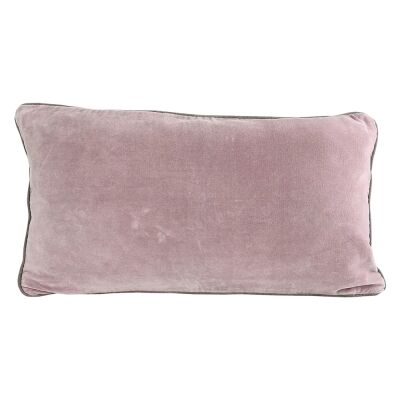 Breakfast Velvet Lumbar Cushion, Blush