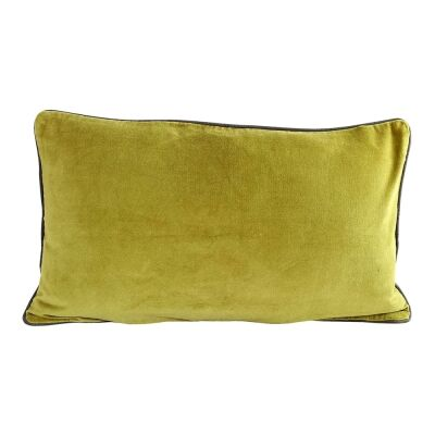 Breakfast Velvet Lumbar Cushion, Moss
