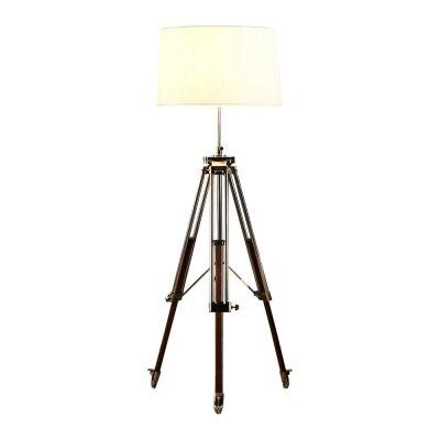 Loft Tripod Floor Lamp, Shiny Nickel