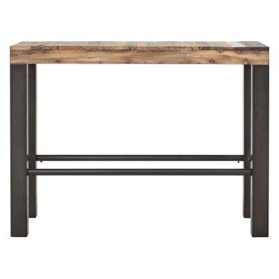 Zango Reclaimed Timber & Iron Bistro Bar Table, 250cm
