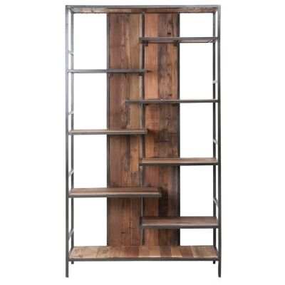 Influence Commercial Grade Industrial Recycled Timber & Iron Bookcase