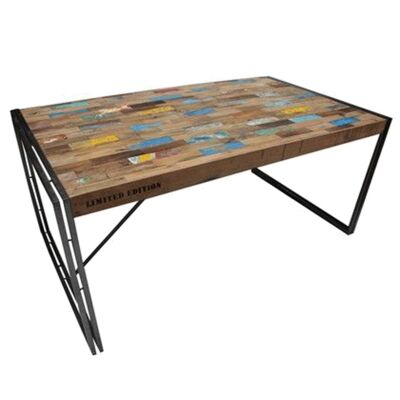 Loft Reclaimed Timber & Iron Dining Table, 150cm