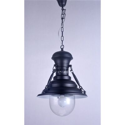 Vintage Stainless Steel European Pendant Light in Black