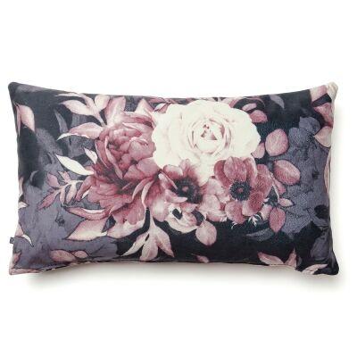 Franco Fabric Lumbar Cushion, Vintage Flower