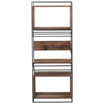 Nako Commercial Grade Reclaimed Timber & Iron Display Shelf