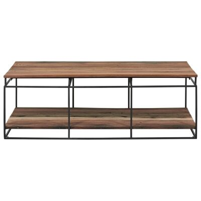 Nako Commercial Grade Reclaimed Timber & Iron Coffee Table, 120cm