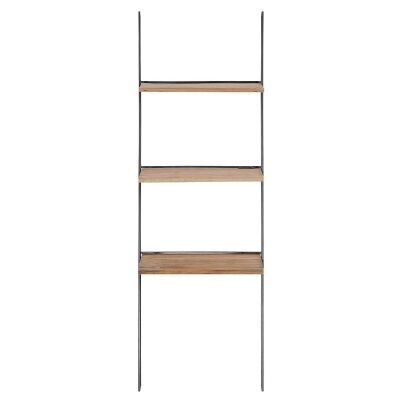 Look Commercial Grade Reclaimed Timber & Iron Ladder Display Shelf