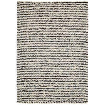 Knight Wool Rug, 225x155cm, Cream / Grey