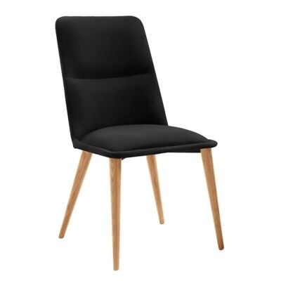 Kustin PU Leather Dining Chair, Black