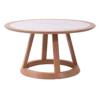 Kustin Ceramic Top Round Coffee Table, 85cm
