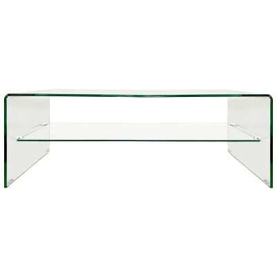 Glacier Glass Coffee Table, 120cm, Clear