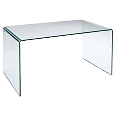 Glacier Glass Desk, 126cm, Clear