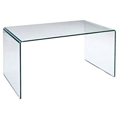 Glacier Glass Desk, 126cm, Clear