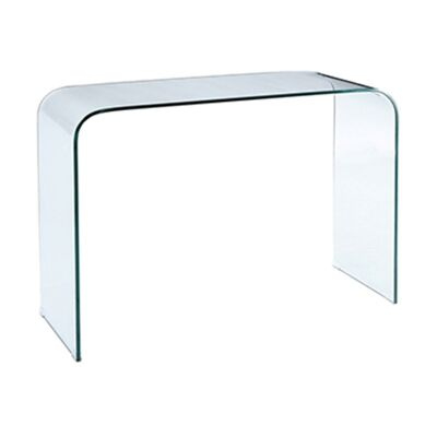 Glacier Glass Hall Table, 110cm, Clear