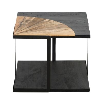 Sublime Commercial Grade Recycled Timber & Steel Square Side Table