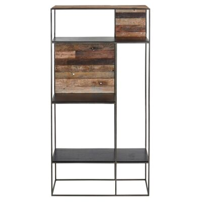 Sublime Commercial Grade Recycled Timber & Iron Display Shelf