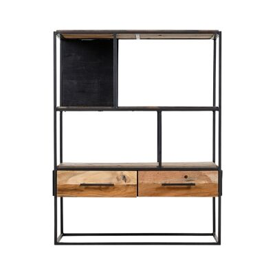 Sublime Commercial Grade Recycled Timber & Steel Compact Display Shelf