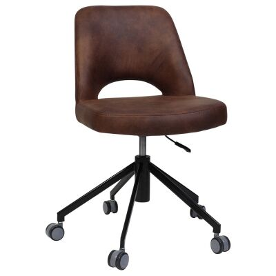 Albury Commercial Grade Eastwood Fabric Gas Lift Office Chair, Bison / Black