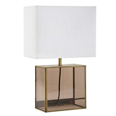 Billie Metal Framed Glass Base Table Lamp
