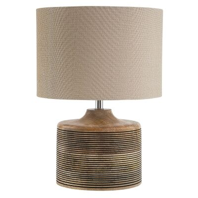 Lucas Mango Wood Base Table Lamp