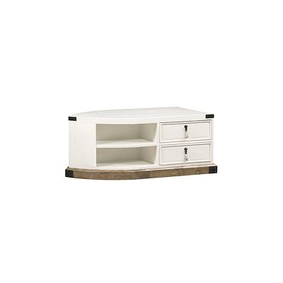White Haven Solid Pine Timber 2 Drawer Dinghy Boat 120cm Coffee Table