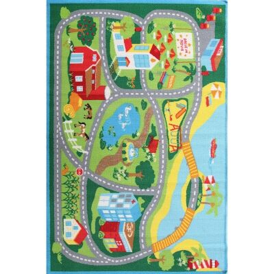 Beachside Road Map Kids Rug, 150x100cm, Multi