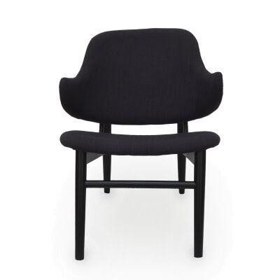 Replica IB Kofod Larsen Easy Lounge Chair, Black