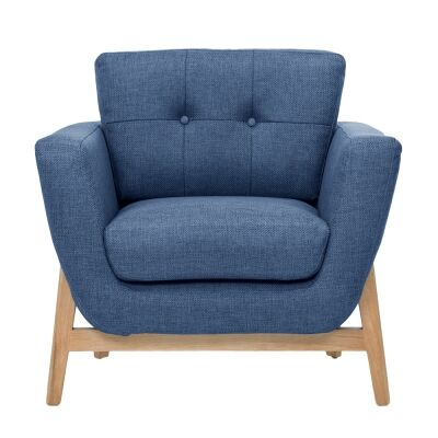 Greenland Fabric Armchair, Navy