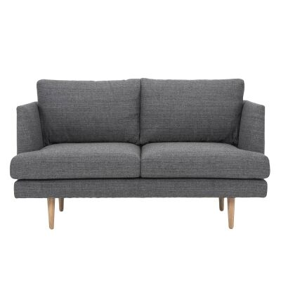 Mina Fabric 2 Seater Sofa, Dark Grey