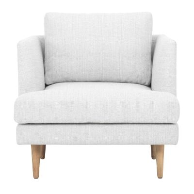 Mina Fabric Armchair, Light Grey