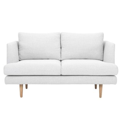 Mina Fabric Sofa, 2 Seater, Pale Grey