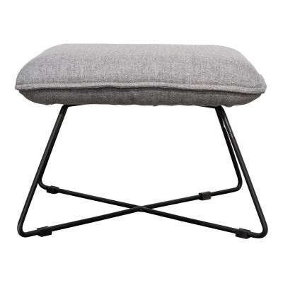 Knoxville Fabric Footstool, Light Grey