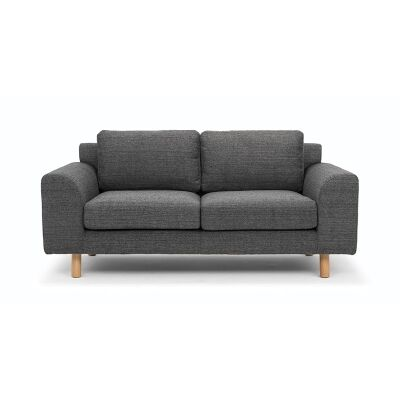 Sabo Fabric Sofa, 2 Seater, Metal Grey
