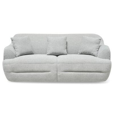 Kioloa Fabric Sofa, 3 Seater, Grey