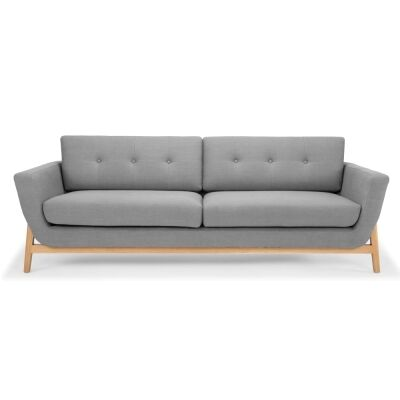 Greenland Fabric Sofa, 3 Seater, Steel Grey