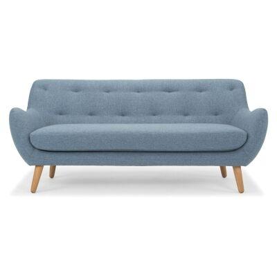Jari Fabric Sofa, 3 Seater, Denim