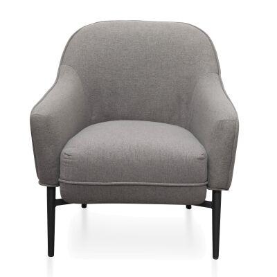 Roxie Fabric Lounge Armchair, Grey
